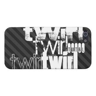Twirl; Black & Dark Gray Stripes Cover For iPhone SE/5/5s
