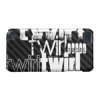 Twirl; Black & Dark Gray Stripes iPod Touch 5G Cover