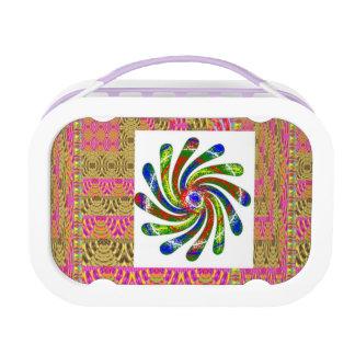 TWIRL BLUE ; Chakra Graphics Lunch Box