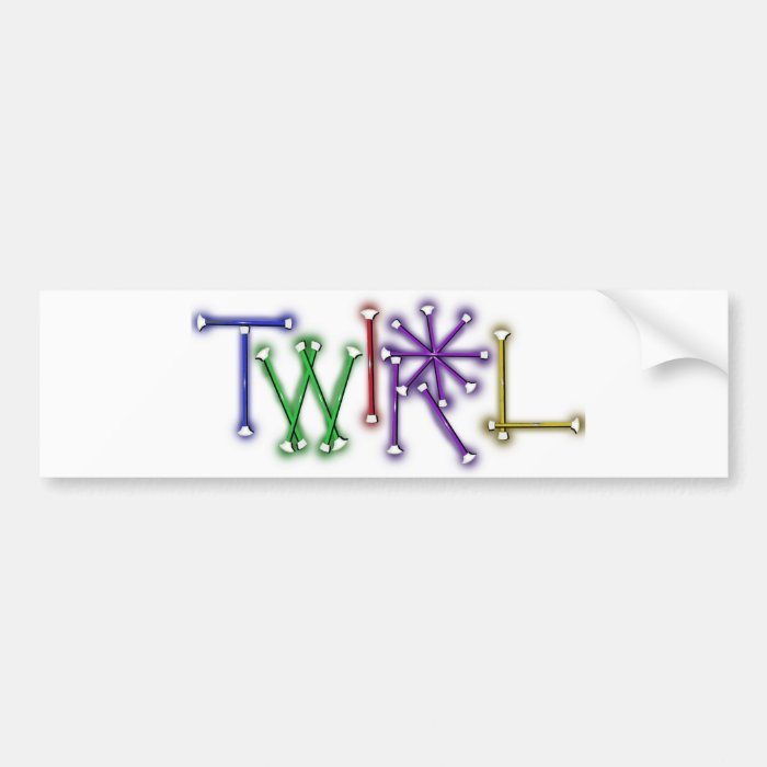 Twirl Bumper Sticker
