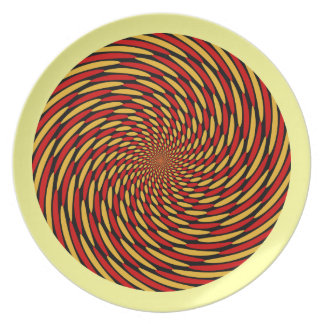 Twirl Burst Design Dinner Plate