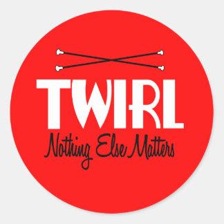 Twirl Classic Round Sticker