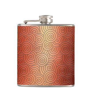 Twirl Copper Texture Hip Flask