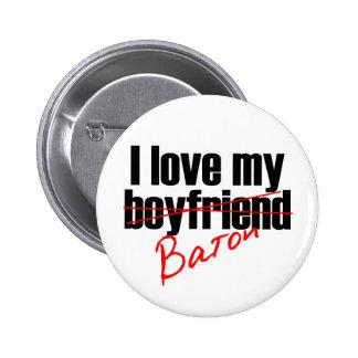 Twirl I love my Baton Pinback Button