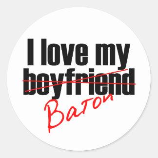 Twirl I love my Baton Stickers