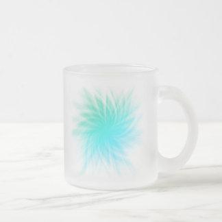 Twirl illustration frosted glass coffee mug