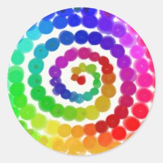 Twirl Me A Rainbow Classic Round Sticker