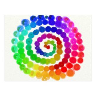 Twirl Me A Rainbow Postcards