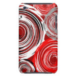 Twirl Red White Gray IPod Touch Case-Mate Case