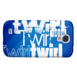 Twirl; Royal Blue Stripes Galaxy S4 Cover