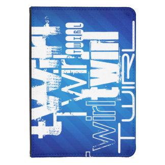 Twirl; Royal Blue Stripes Kindle Touch Case