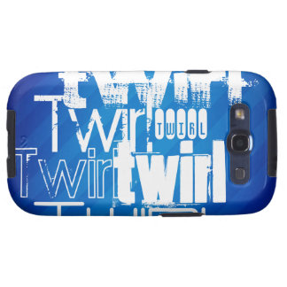 Twirl; Royal Blue Stripes Galaxy S3 Cover