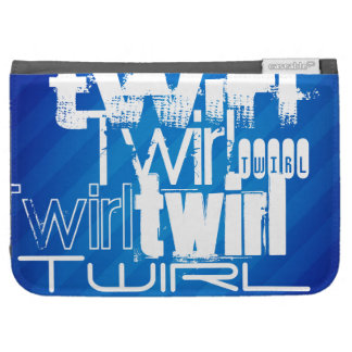 Twirl; Royal Blue Stripes Kindle 3G Cases