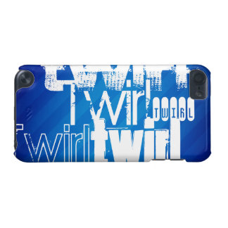 Twirl; Royal Blue Stripes iPod Touch 5G Cases