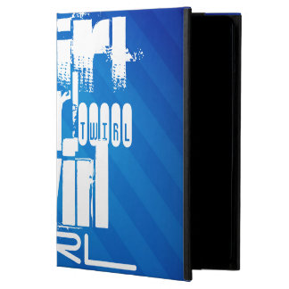 Twirl; Royal Blue Stripes iPad Air Case