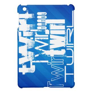 Twirl; Royal Blue Stripes iPad Mini Cases