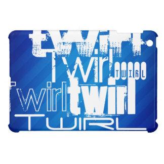 Twirl; Royal Blue Stripes iPad Mini Case