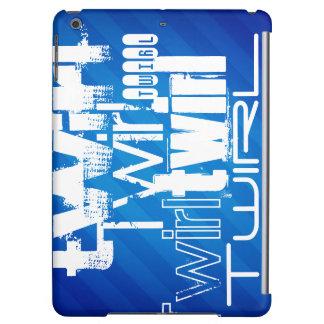 Twirl; Royal Blue Stripes iPad Air Cases