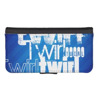 Twirl; Royal Blue Stripes Phone Wallets