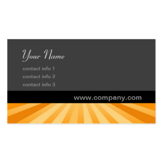 Twirl Series - Golden Double-Sided Standard Business Cards (Pack Of 100)