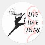 Twirl Sticker