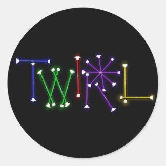 Twirl Stickers