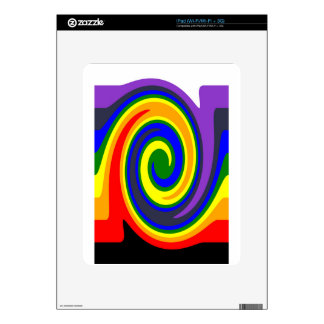 Twirl Waves Rainbow of Colors, ROYGBIV Design Decals For iPad