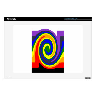 """Twirl Waves Rainbow of Colors, ROYGBIV Design Skins For 15"""" Laptops"""