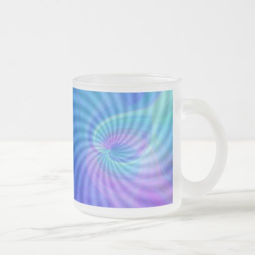 Twirled Hearts Frosted Glass Coffee Mug