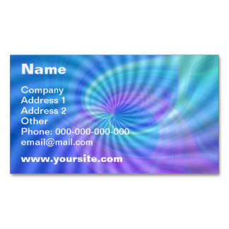 Twirled Hearts Magnetic Business Card
