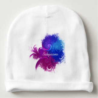 Twirled Pearls Abstract Fractal Art Personalized Baby Beanie