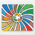 Twirled Recycle Mouse Pad