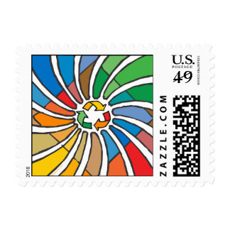 Twirled Recycle Postage Stamps