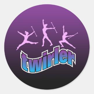 Twirler Classic Round Sticker