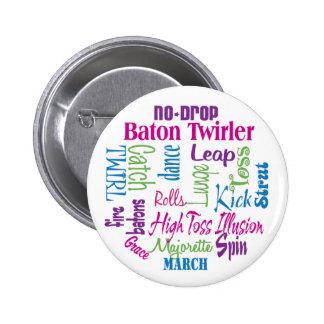 Twirler Collage Button