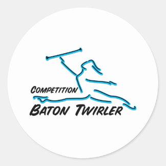 Twirler de la competencia pegatina redonda