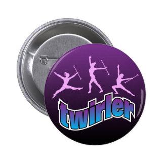 Twirler Pinback Button