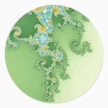 Twirligig - Fractal Classic Round Sticker