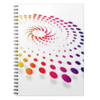 Twirling abstract dot vector spiral note book