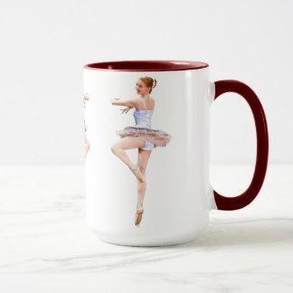 Twirling Ballerina in Purple and White Mug