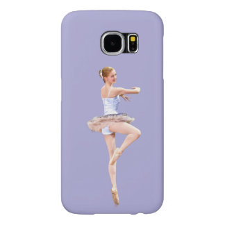 Twirling Ballerina in Purple and White Samsung Galaxy S6 Case