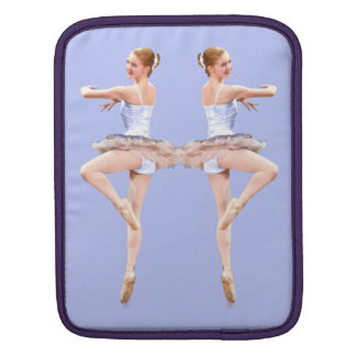 Twirling Ballerina in Purple and White Sleeve For iPads