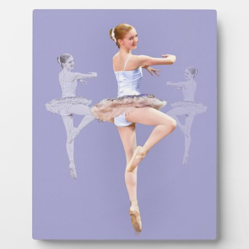 Twirling Ballerina in Triplicate Photo Plaque