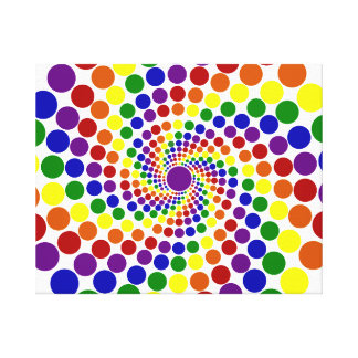 Twirling Color Wheel Canvas Print