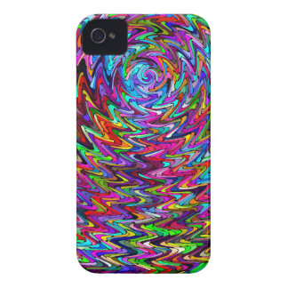 Twirling Colors Zigzag Pattern iPhone 4 Case