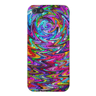 Twirling Colors Zigzag Pattern iPhone SE/5/5s Cover