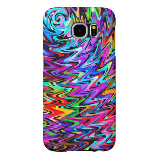 Twirling Colors Zigzag Pattern Samsung Galaxy S6 Case