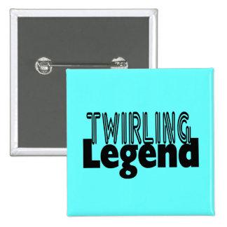 Twirling Legend Pinback Button