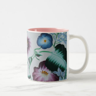 """Twirling Outdoors"" Floral Folk Art, Fine Art Mug"