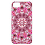 Twirling Pink, Abstract Candy Lace Jewels Mandala Case For iPhone 5C